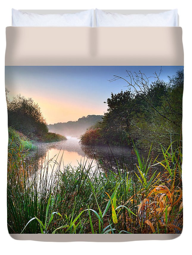 Swiss Valley Duvet Cover featuring the photograph Swiss Valley Reservoir by Phil Fitzsimmons