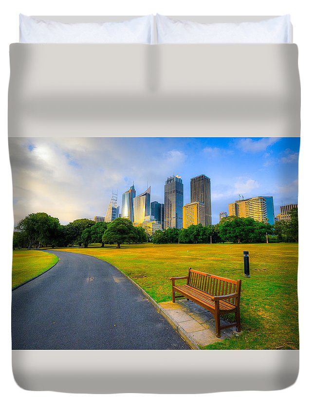 Oceania Duvet Cover featuring the photograph Sydney by Dennis Herzog