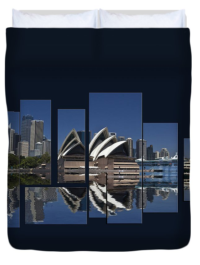 Sydney Harbour Duvet Cover featuring the photograph Sydney Harbour Collage by Sheila Smart Fine Art Photography