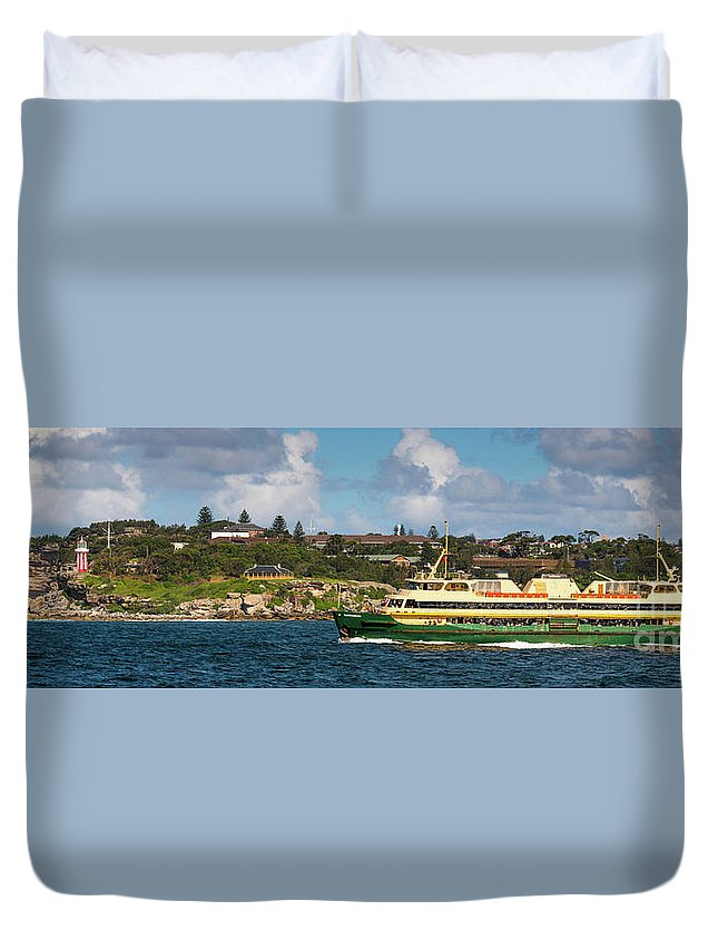 Sydney Duvet Cover featuring the photograph Sydney Harbour Panorama by Andrew Michael