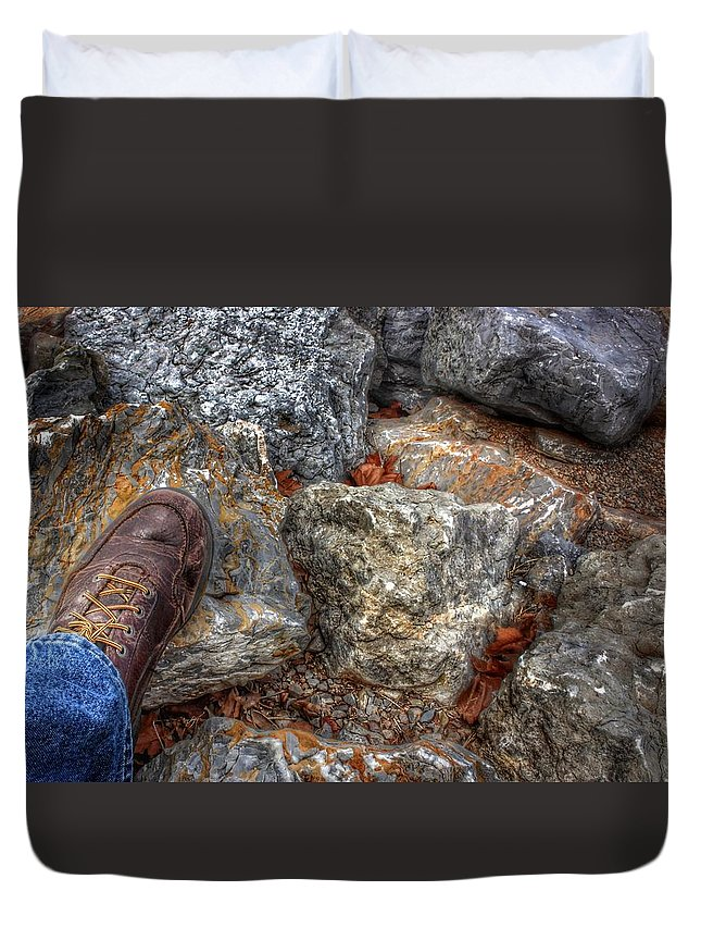 Step Duvet Cover featuring the photograph Symbolic Steps Of Life by Buck Buchanan