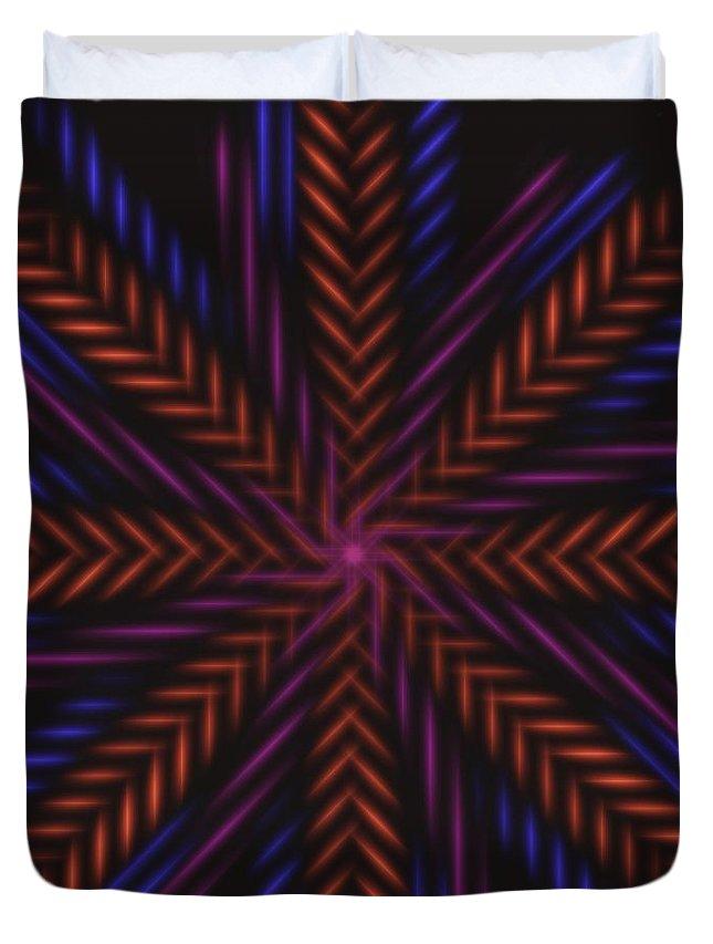 Symmetry Duvet Cover featuring the digital art Symmetry 15 by David G Paul