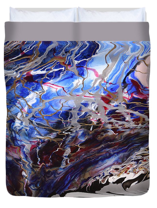 Fusionart Duvet Cover featuring the painting Synapse by Ralph White