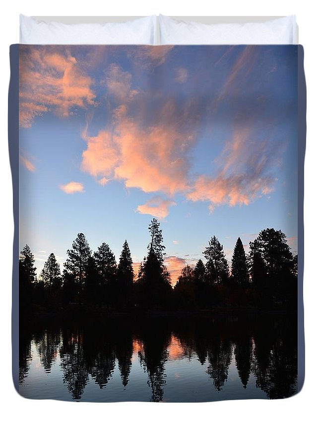 Trees Duvet Cover featuring the photograph Synchronicity by Gale Cochran-Smith