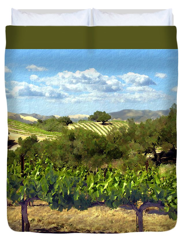 Vineyards Duvet Cover featuring the photograph Syrah For Miles by Kurt Van Wagner