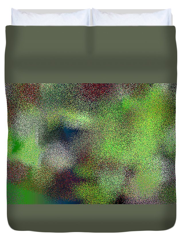 Abstract Duvet Cover featuring the digital art T.1.1091.69.2x1.5120x2560 by Gareth Lewis