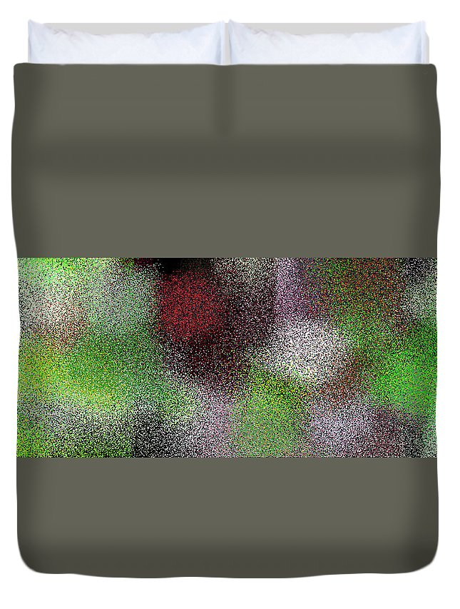 Abstract Duvet Cover featuring the digital art T.1.1093.69.3x1.5120x1706 by Gareth Lewis