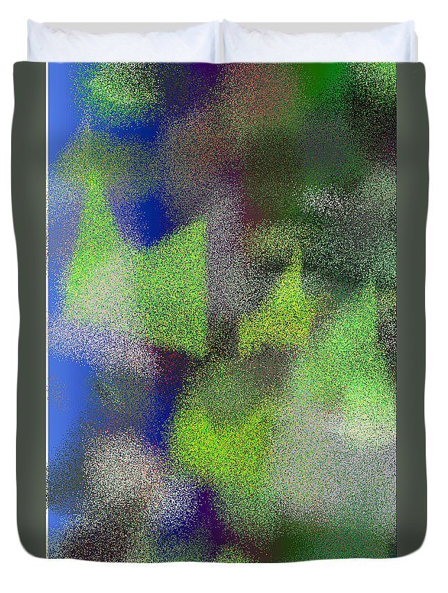 Abstract Duvet Cover featuring the digital art T.1.1098.69.3x5.3072x5120 by Gareth Lewis