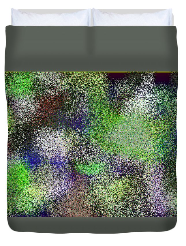 Abstract Duvet Cover featuring the digital art T.1.1099.69.5x3.5120x3072 by Gareth Lewis