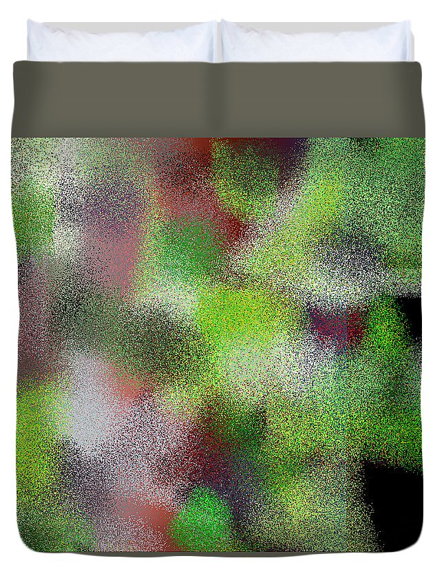 Abstract Duvet Cover featuring the digital art T.1.1103.69.7x5.5120x3657 by Gareth Lewis