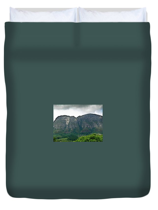 Table Duvet Cover featuring the photograph Table Mountain South Africa by Douglas Barnett
