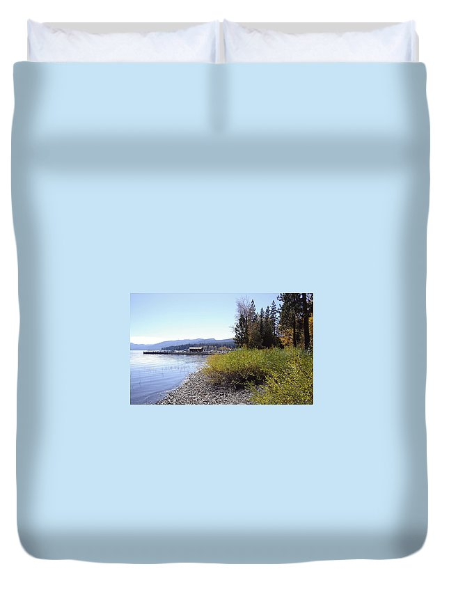 Lake Duvet Cover featuring the photograph Tahoe by Mary Rogers