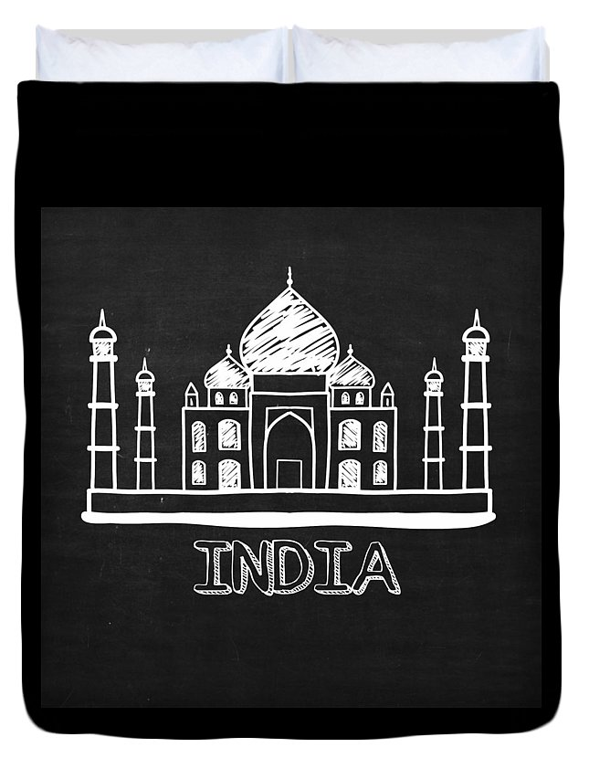 Taj Mahal Duvet Cover featuring the digital art Taj Mahal India by Khushbu