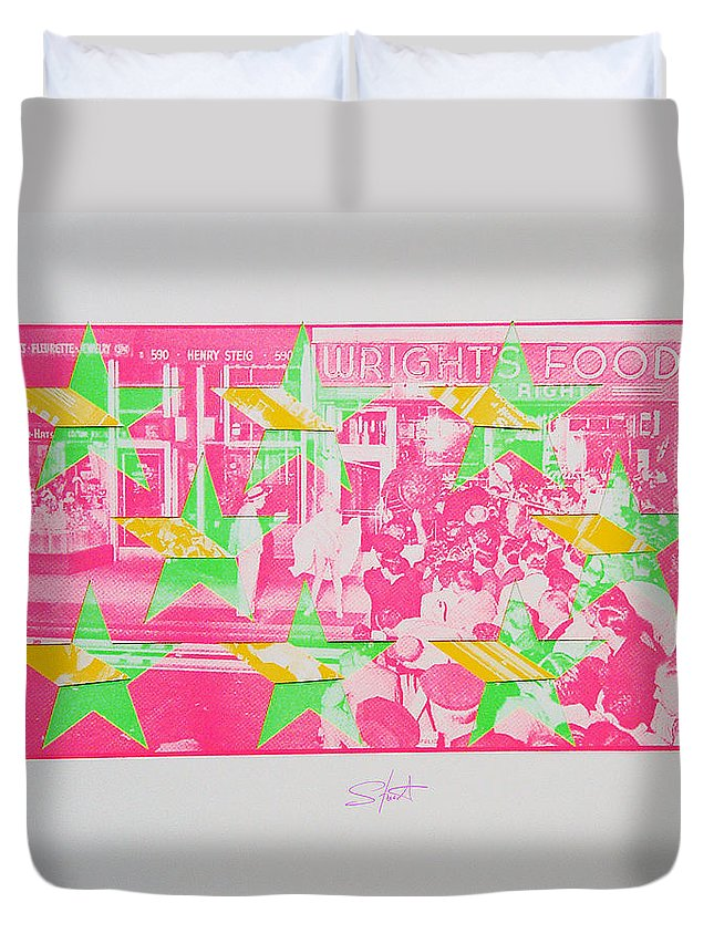 Marilyn Monroe Duvet Cover featuring the mixed media Take Five 3 by Charles Stuart