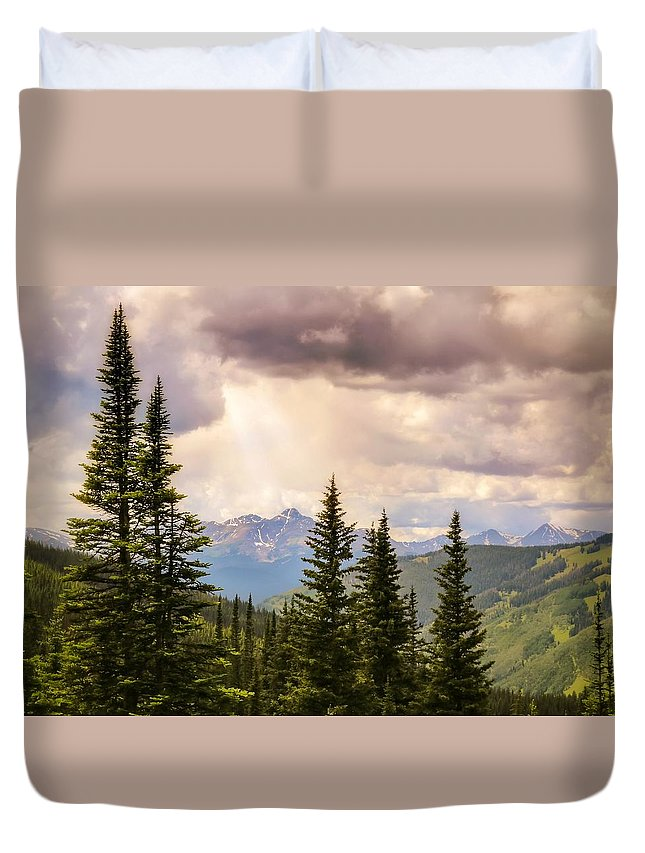 Heavens Duvet Cover featuring the photograph Take Heart by LeAnne Perry