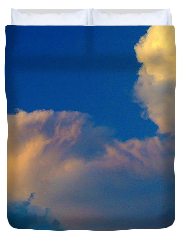 Sky Duvet Cover featuring the photograph Taken Up by Mykel Davis