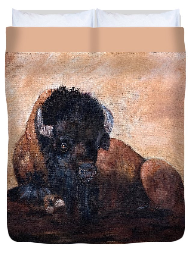 Jan Holman Art Paintings 2010 Duvet Cover featuring the painting Takin' A Break by Jan Holman