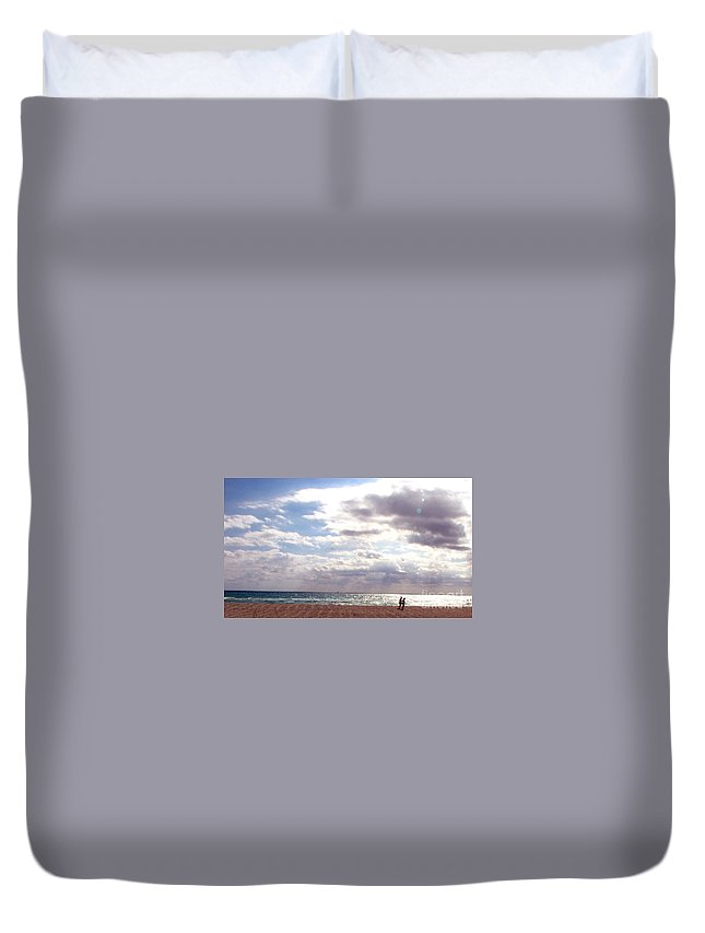 Walking Duvet Cover featuring the photograph Taking A Walk by Amanda Barcon