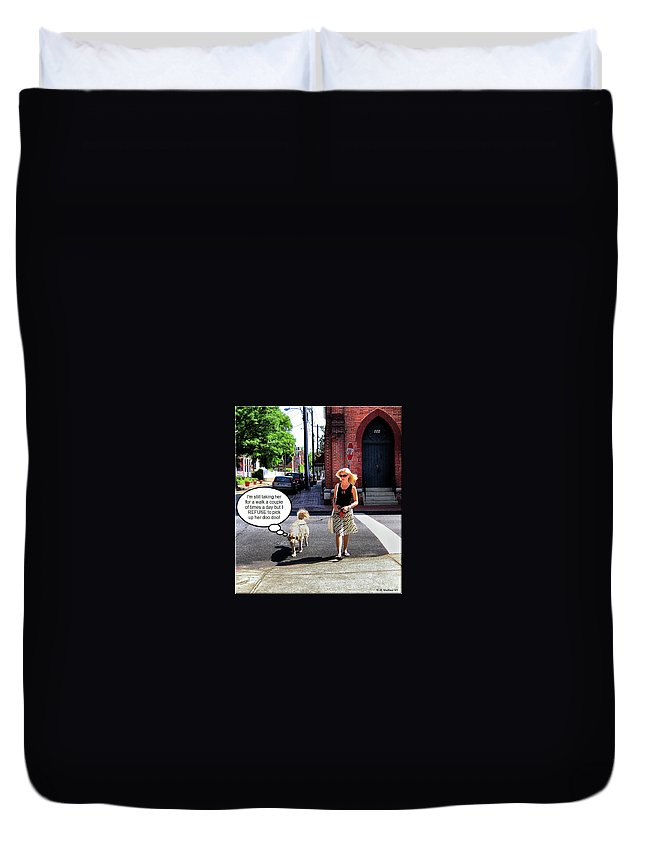 2d Duvet Cover featuring the photograph Taking Her Out For A Stroll by Brian Wallace