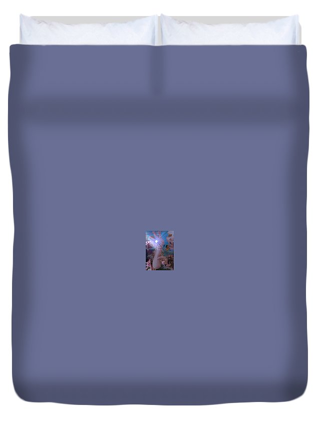 Talk To The Hand Duvet Cover featuring the painting Talk To The Hand by Joe Geare