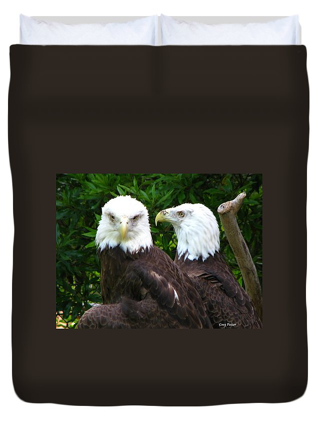 Duvet Cover featuring the photograph Talking To Me by Greg Patzer
