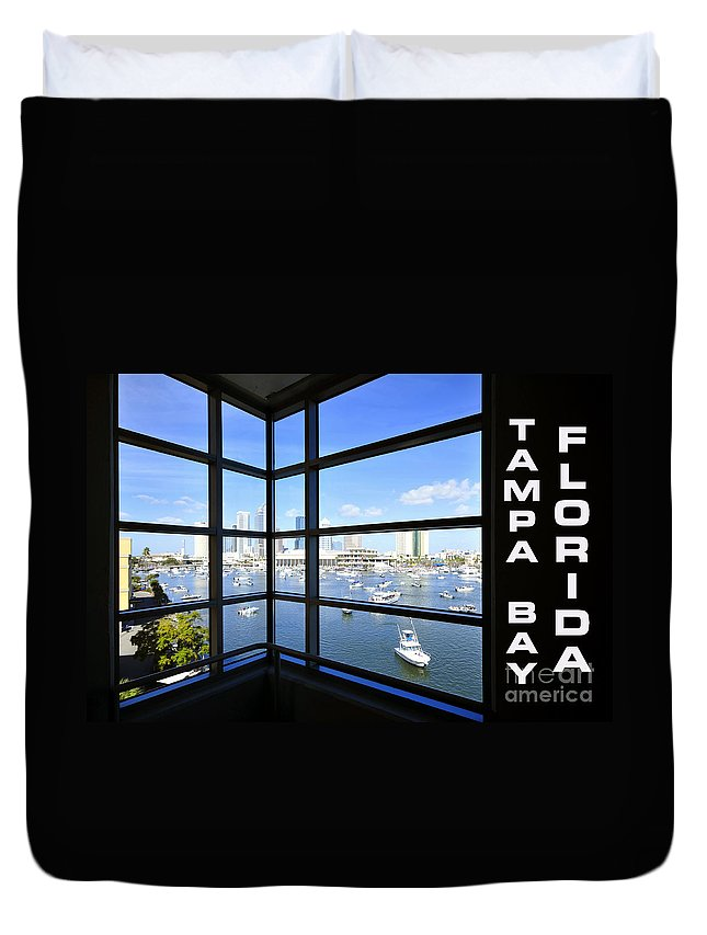Tampa Bay Florida Duvet Cover featuring the photograph Tampa Bay Florida by David Lee Thompson