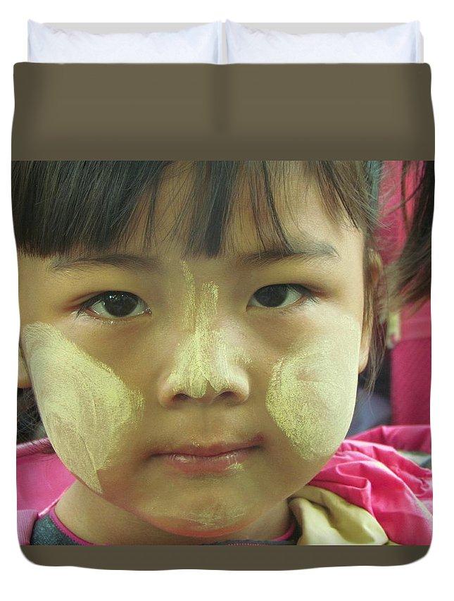 Cute Duvet Cover featuring the photograph Tanaka Cheek by Sarode Nimmanwattana