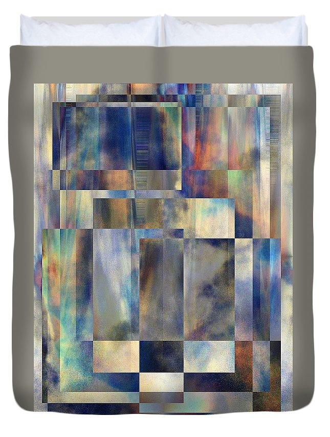Abstract Duvet Cover featuring the digital art Tango In The Sky by Tim Allen