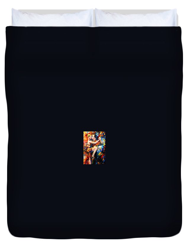 Dance Duvet Cover featuring the painting Tango Of Love  by Leonid Afremov