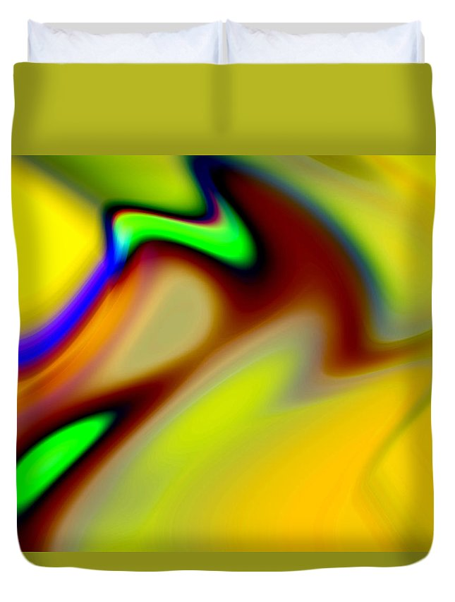 Abstract Duvet Cover featuring the digital art Tango by Ruth Palmer