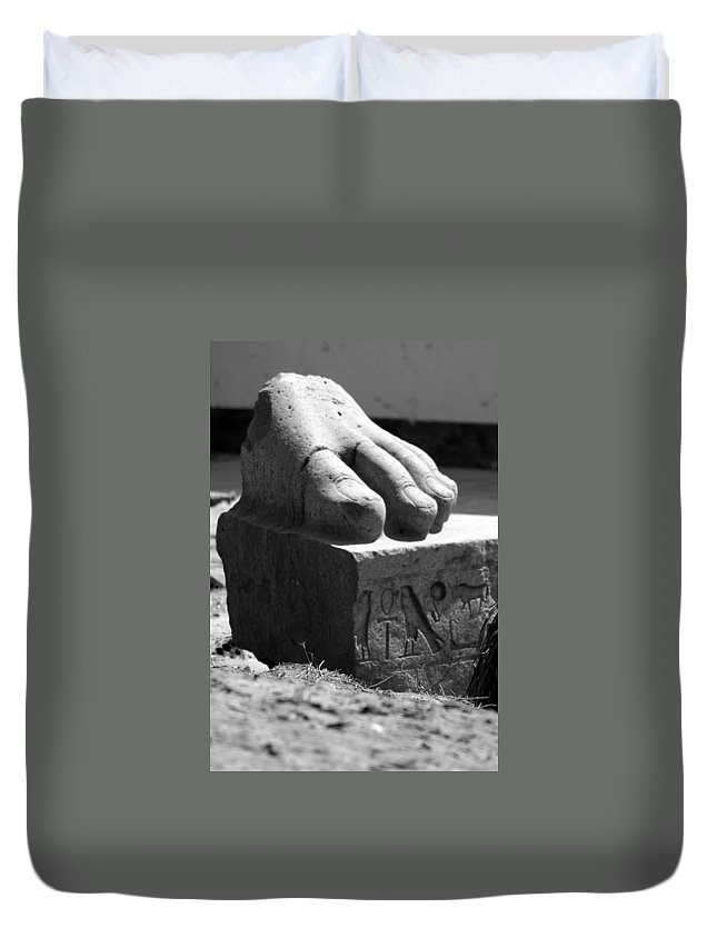 Tanis Duvet Cover featuring the photograph Tanis Foot by Donna Corless