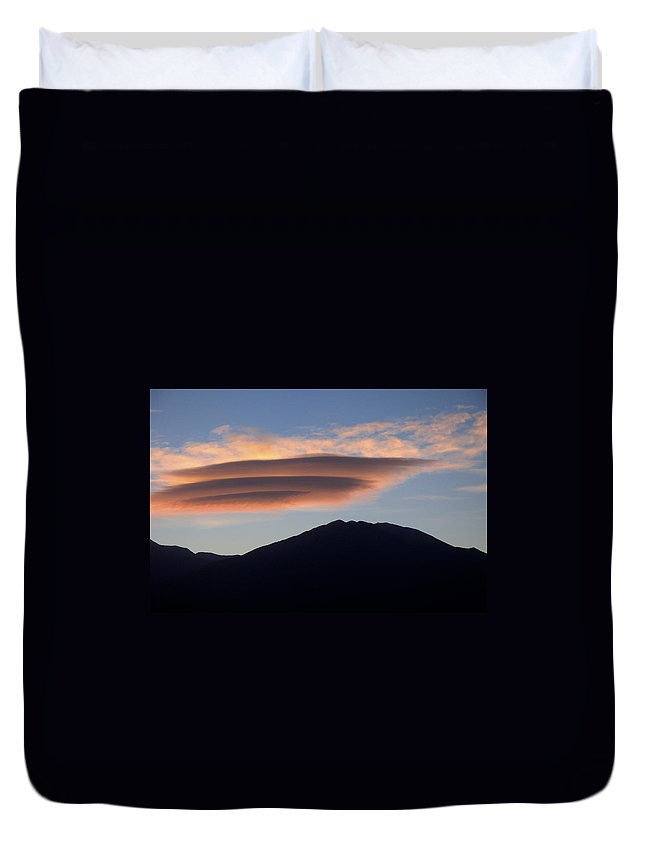 Taos Duvet Cover featuring the photograph Taos Sunset by Jerry McElroy