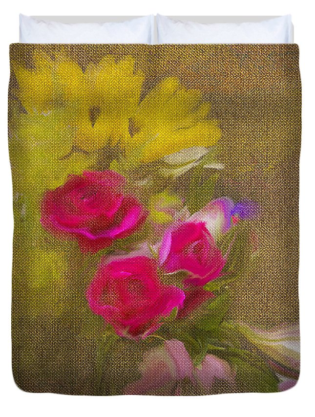 Flower Duvet Cover featuring the photograph Tapestry Bouquet by Sharon M Connolly