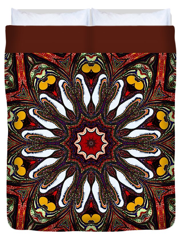Mandala Duvet Cover featuring the mixed media Tapestry by Natalie Holland