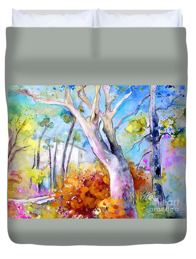 Tarbes Duvet Cover featuring the painting Tarbes 02 by Miki De Goodaboom