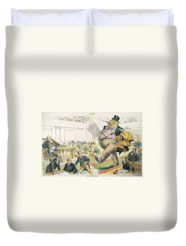 1897 Duvet Cover featuring the photograph Tariff Lobbyist, 1897 by Granger
