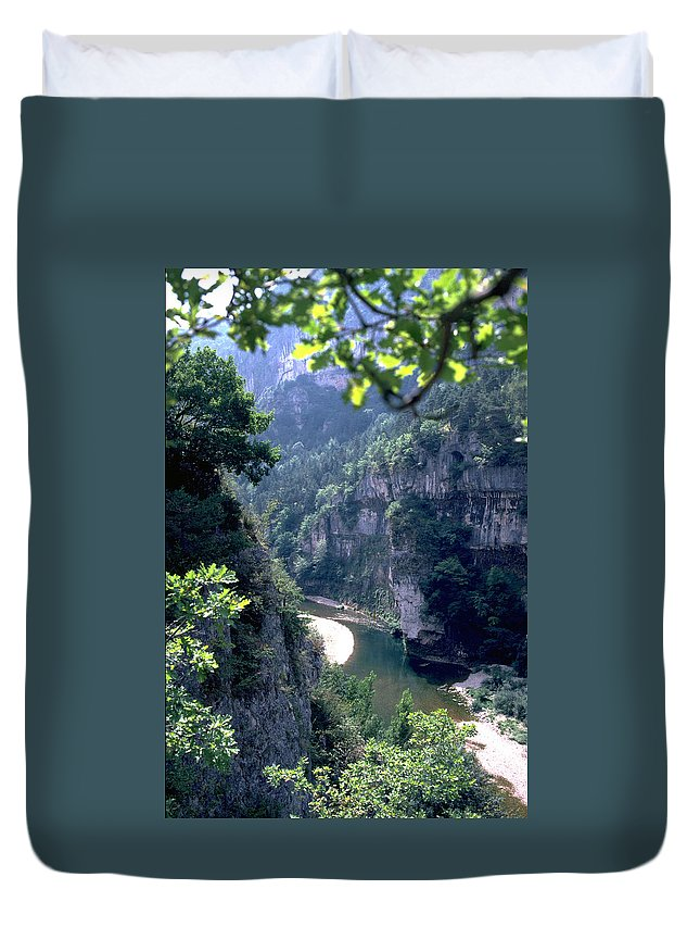 France Duvet Cover featuring the photograph Tarn by Flavia Westerwelle