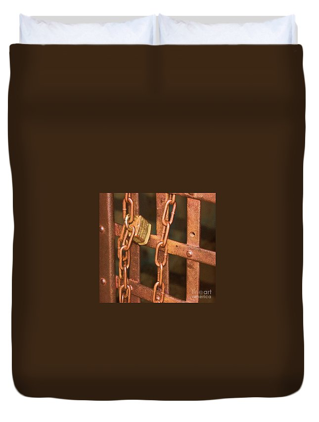 Metal Duvet Cover featuring the photograph Tarnished Image by Debbi Granruth