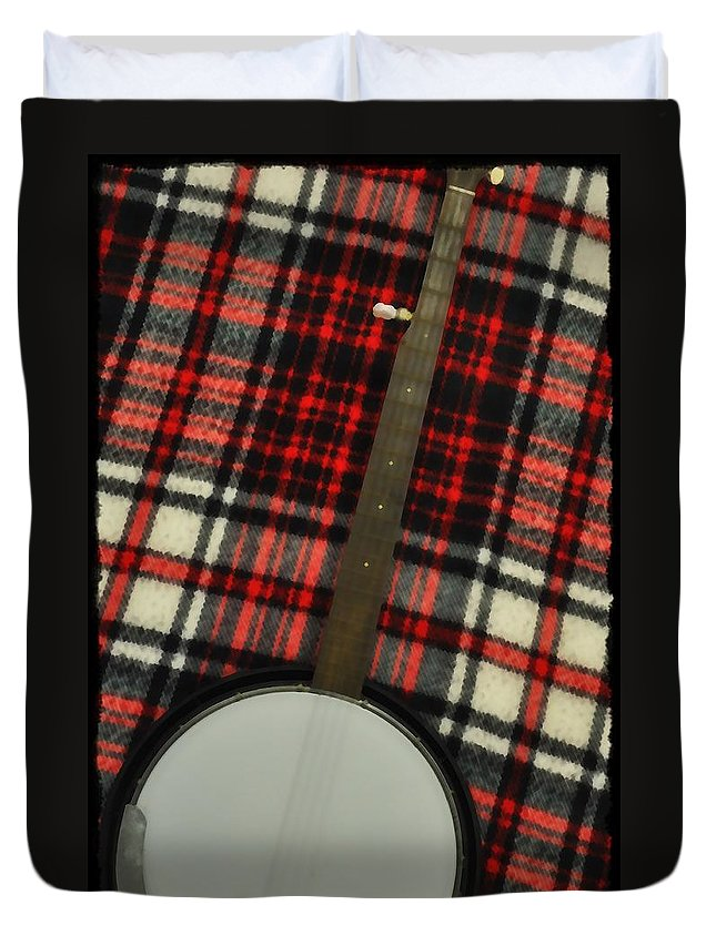 Tartan Duvet Cover featuring the photograph Tartan Banjo by Bill Cannon