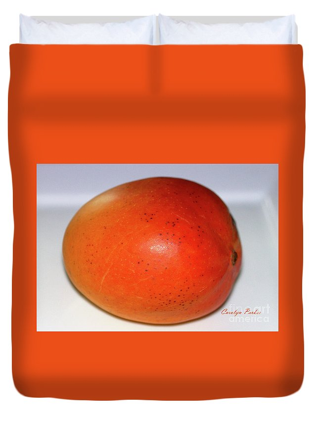 Tasty Mango Duvet Cover featuring the photograph Tasty Mango by Carolyn Parker