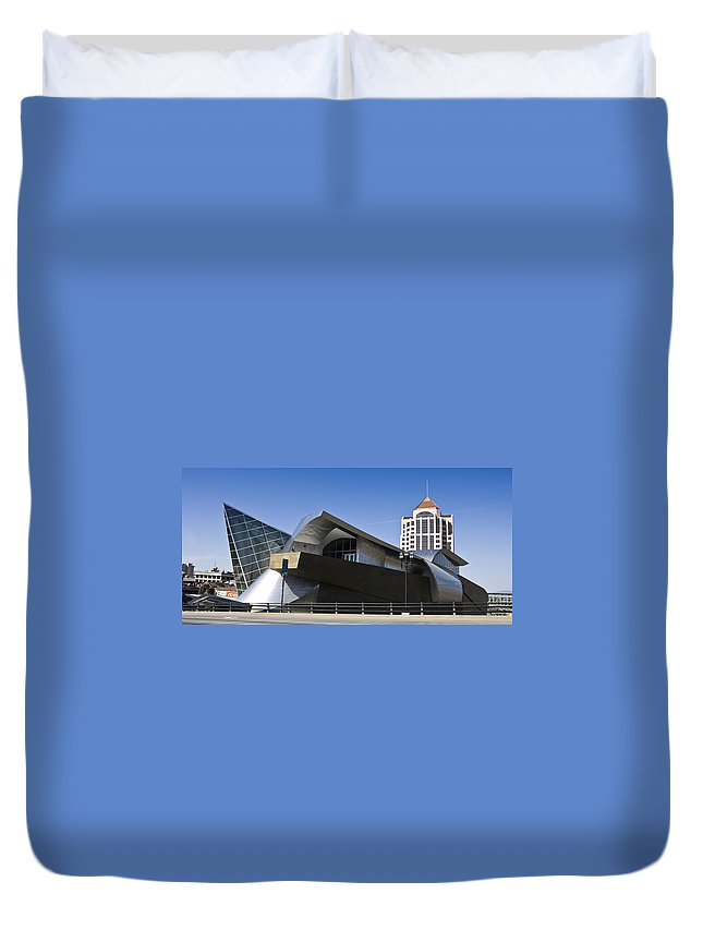 Roanoke Duvet Cover featuring the photograph Taubman And Tower Roanoke Virginia by Teresa Mucha