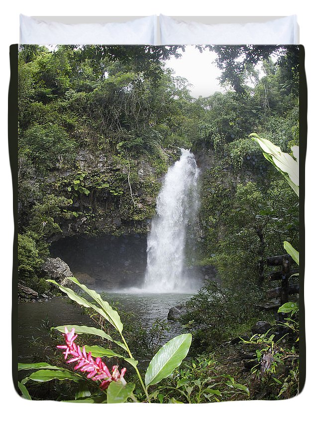 Beautiful Duvet Cover featuring the photograph Taveuni, Tavoro Waterfall by Himani - Printscapes