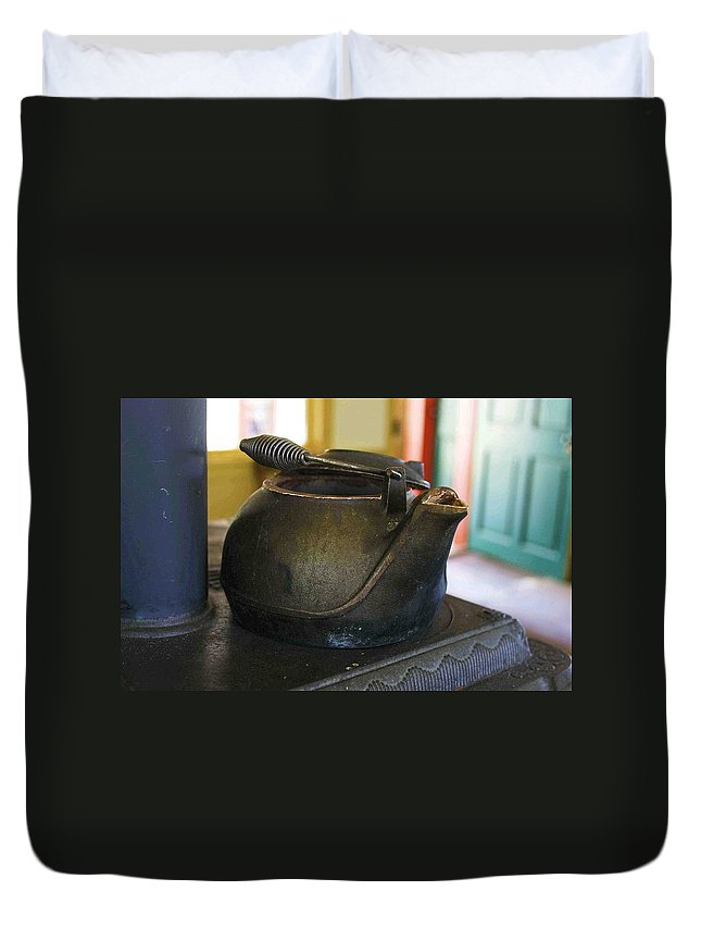 Tea Kettle Duvet Cover featuring the photograph Tea Kettle by Nelson Strong