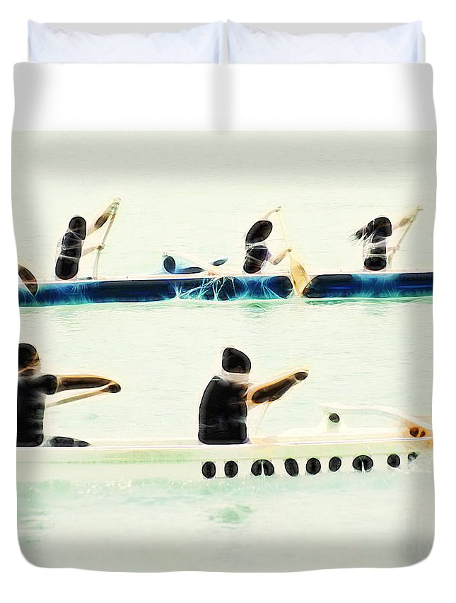 Primitive-abstract-fine Art Duvet Cover featuring the photograph Teamwork Nbr2 by Scott Cameron