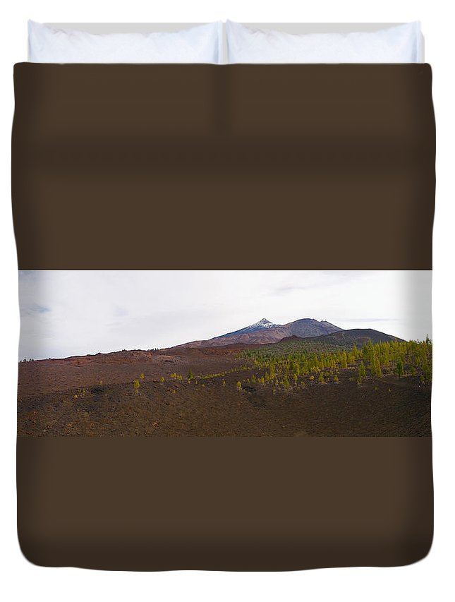 Landscape Duvet Cover featuring the photograph Teide Nr 13 by Jouko Lehto