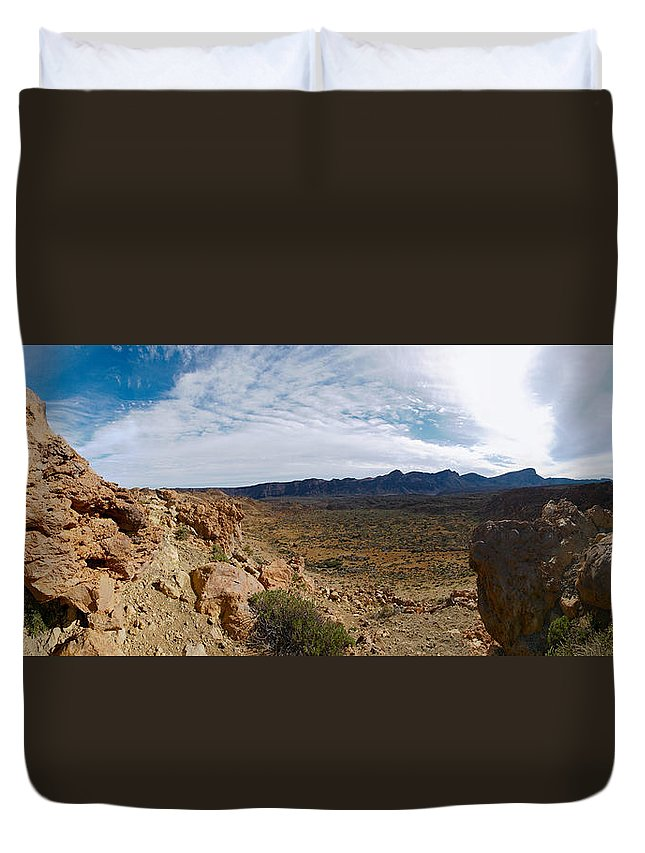 Landscape Duvet Cover featuring the photograph Teide Nr 14 by Jouko Lehto
