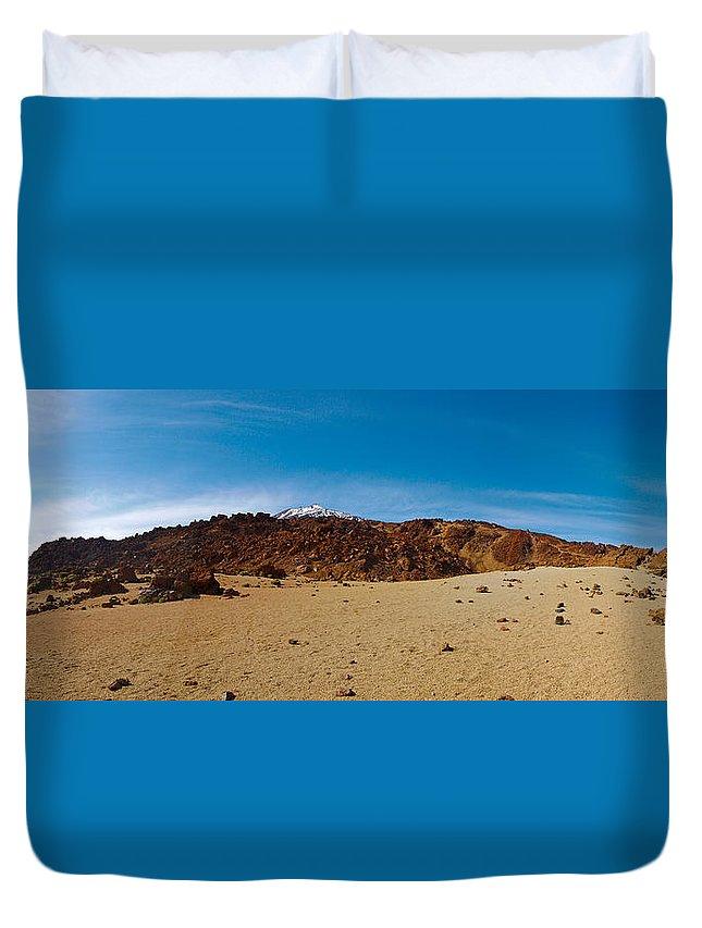 Landscape Duvet Cover featuring the photograph Teide Nr 15 by Jouko Lehto
