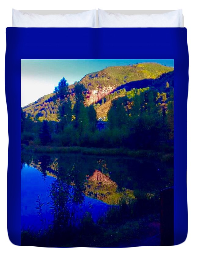 Telluride Duvet Cover featuring the photograph Telluride Town Park by Camilla Hale