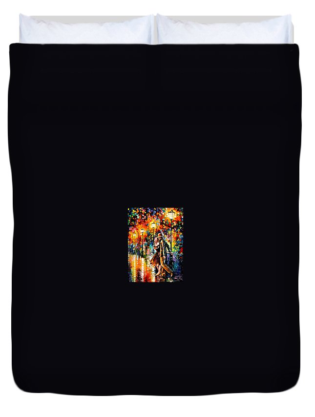Scenery Duvet Cover featuring the painting Tempter by Leonid Afremov