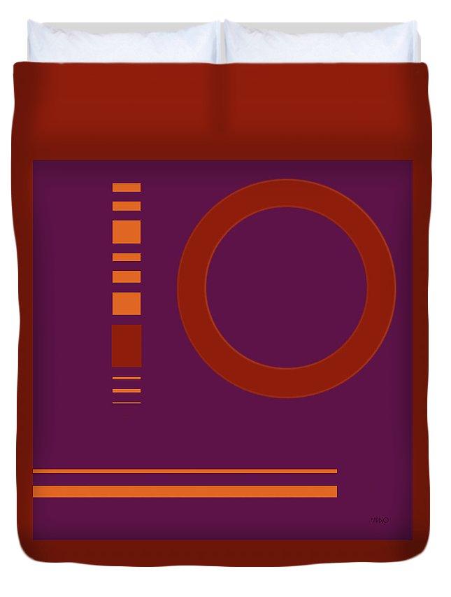 Ten Duvet Cover featuring the digital art Ten by Tommy Marblo